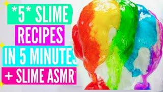 Easy Slime Recipes//Jelly Slime, DIY Clay Slime, Slushie Slime, Snow Fizz How To Make Slime Tutorial