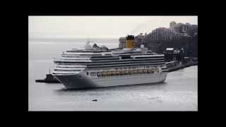 Costa Serena + Costa NeoRomantica: partida do porto do Funchal