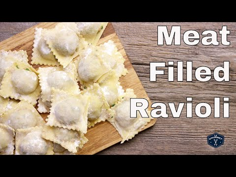 Meat Filled Ravioli From Scratch || Le Gourmet TV Recipes