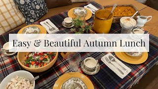 Fall Lunch Tutorial - 3 Easy Recipes and Thrifted Tablescape - $5 Goodwill Challenge