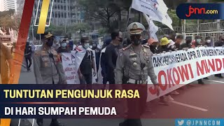 Peringati Hari Sumpah Pemuda, Ratusan Orang Demo di Tugu Tani