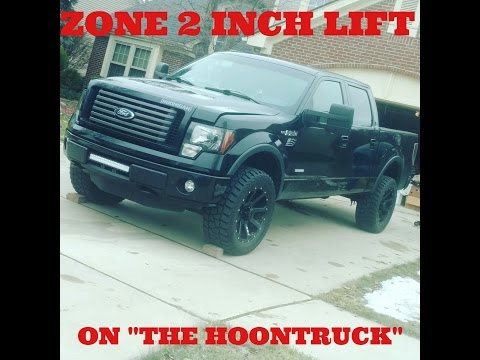 The HOONTRUCK gets a lift kit! Zone 2 inch lift on a 2012 F-150