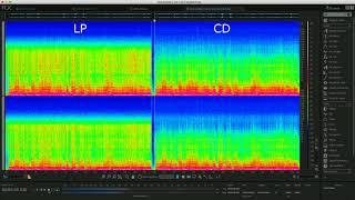 LP와 CD의 스펙트럼 데이터 비교