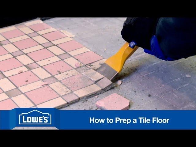 to prep subfloor for tile installation