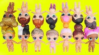 LOL Surprise! Dolls Lil Luxe Dress Up + Confetti Pop Color Change, Big Sisters Haul Blind Bags Video