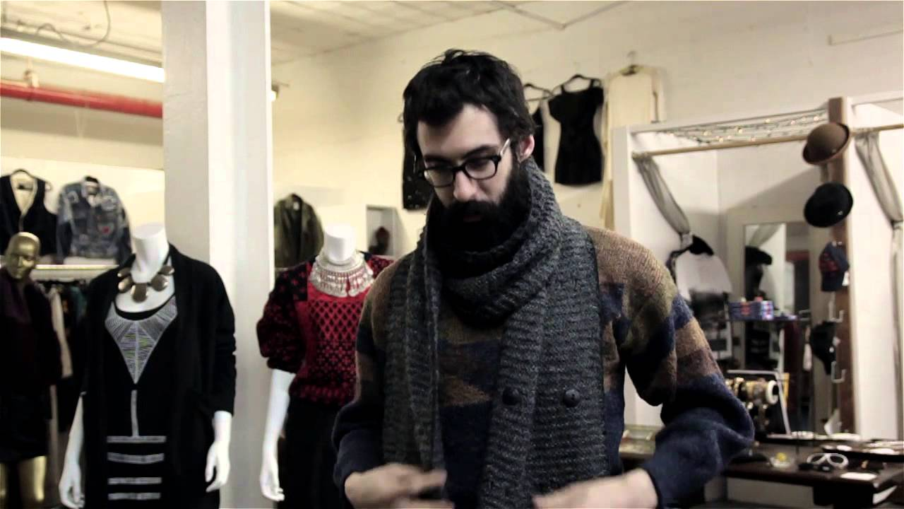 how to tie a hipster scarf men s outfit ideas youtube