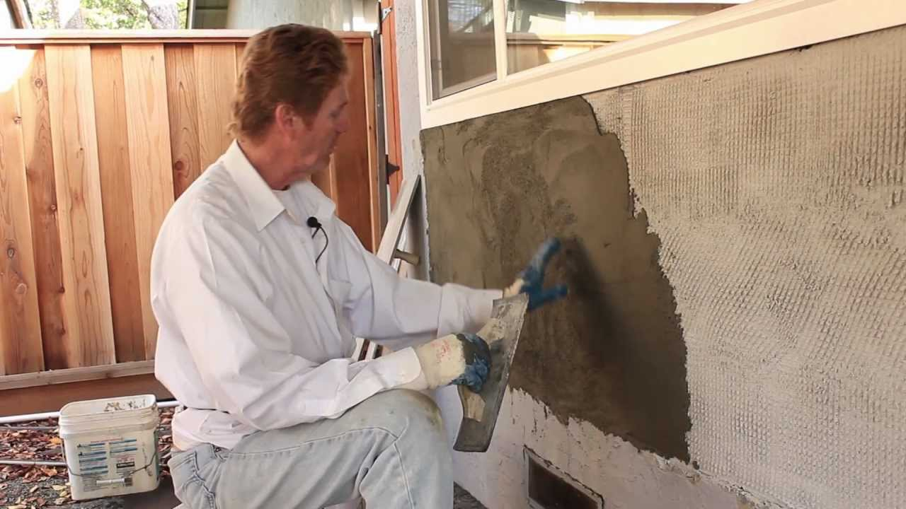 how to put stucco on a block wall
