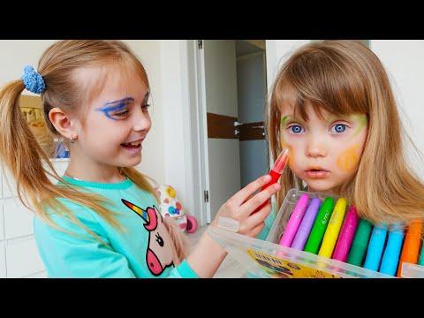 Марго и Настя про игры с косметикой для детей Kids Makeup