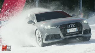 NEW AUDI RS6 AVANT 2015 - CRAZY SNOW TEST ONLY SOUND