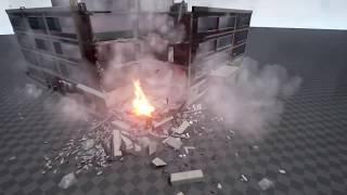 UE4 PhysX Destructible building