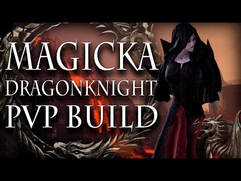 ESO Magicka Dragonknight PvP Build | 4k Spell Damage 3k Magicka Recovery | Homestead
