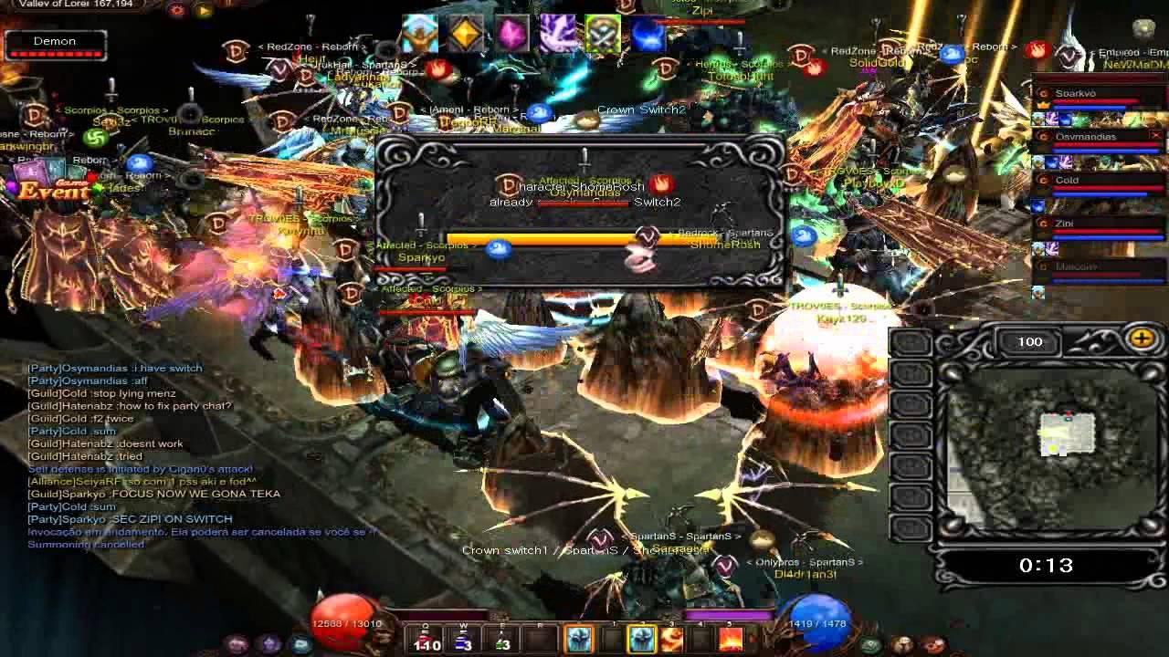 [MU Online] Castle Siege 21/07/2013 - YouTube