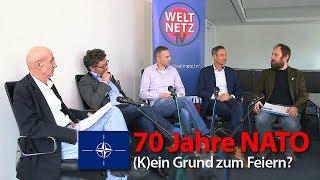 70 Jahre NATO - (K)ein Grund zum Feiern? | Daniele Ganser, Uli Gellermann, Diether Dehm, Lucas Wirl