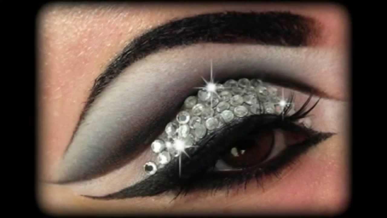 Rihanna Diamonds Glitter Amp Rhinestones Make Up Tutorial