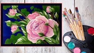 Видео урок Рисуем Розу гуашью #Dari Art