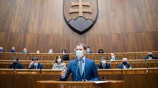 Naživo z NR SR: Návrh na vyslovenie nedôvery predsedovi vlády SR Igorovi Matovičovi