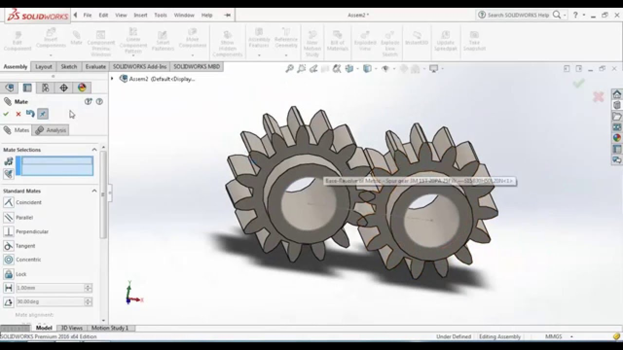 gear motion study | SOLIDWORKS Forums