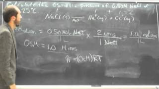Calculate Osmotic Pressure (π) From Molar Concentration (M) 001