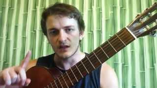 1) Как играть на гитаре любую песню — три волшебных аккорда PIROLIZ .COM(Первый урок игры на гитаре. Изучаем базовые блатные аккорды Am, Dm, E - на каких песнях учиться играть ▻Наш..., 2014-08-11T18:27:28.000Z)