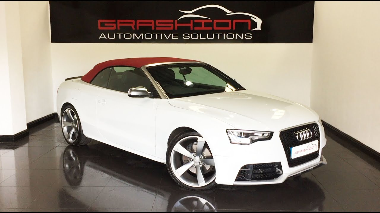 Audi A5 20 Quot Alloys Sat Nav Amp Red Convertible Roof