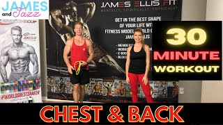 Resistance Bands Chest and Back Workout || High Intensity Interval Training | Fat Burning and Toning