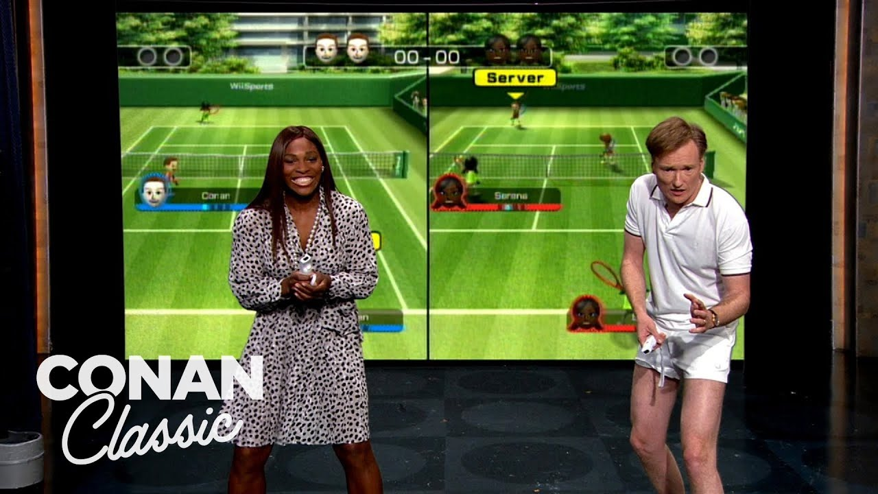 "Serena Williams & Conan Play Wii Tennis - ""Late Night With Conan O'Brien"""