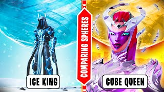 WHO is more menacing THE CUBE QUEEN or THE ICE KING (Fortnite Cube Town Update)