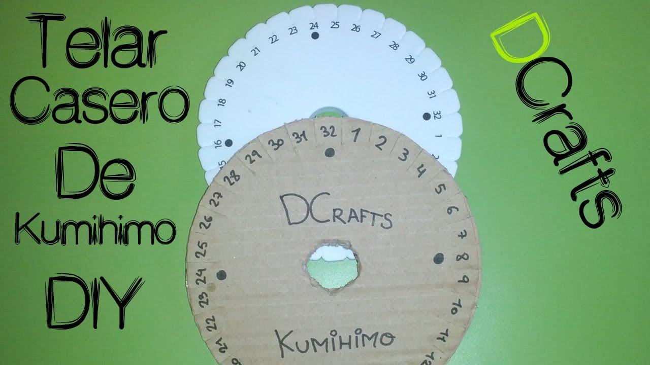 Como hacer telar casero de carton para kumihimo - Ver como hacer manualidades ...