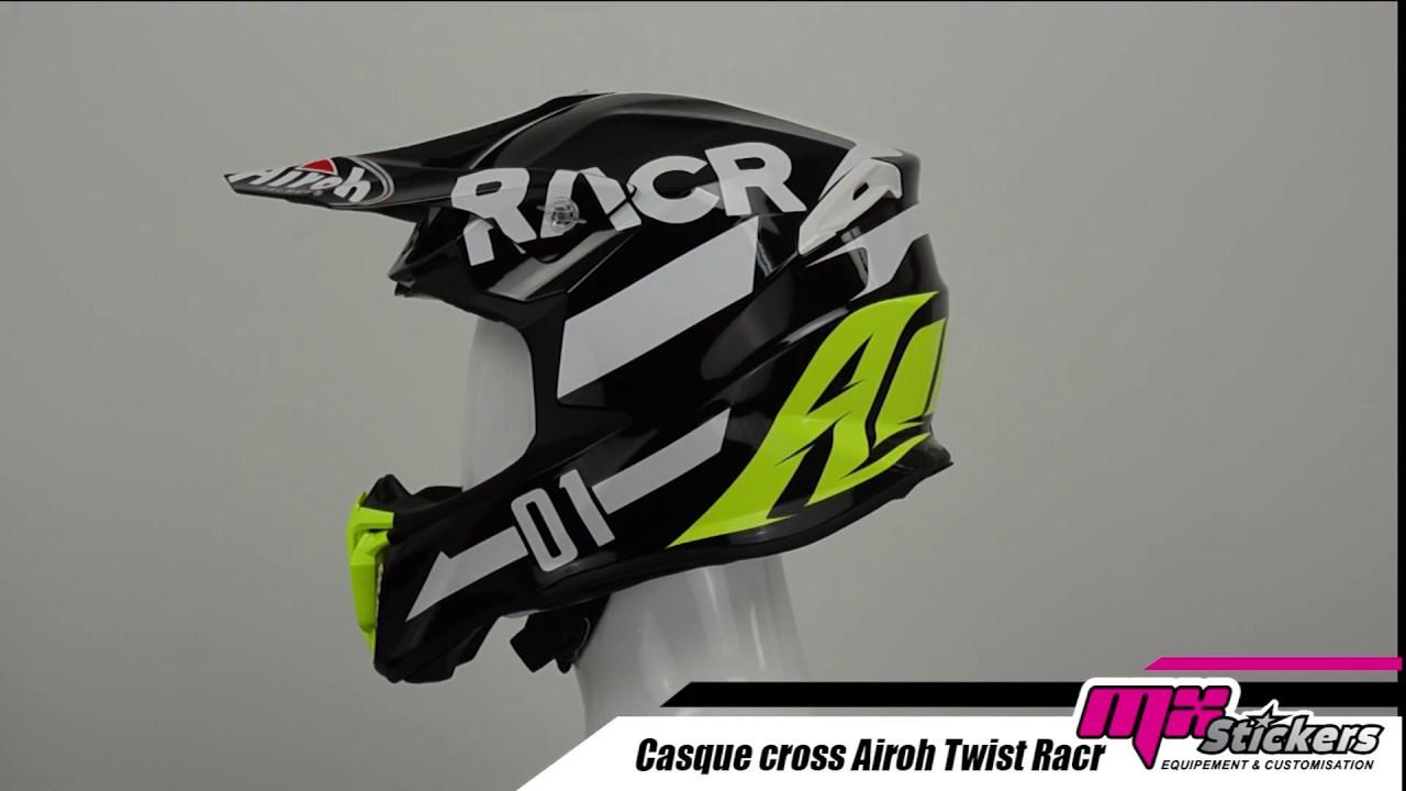 Casco moto cross Airoh Twist RACR enduro off road motard helmet casque