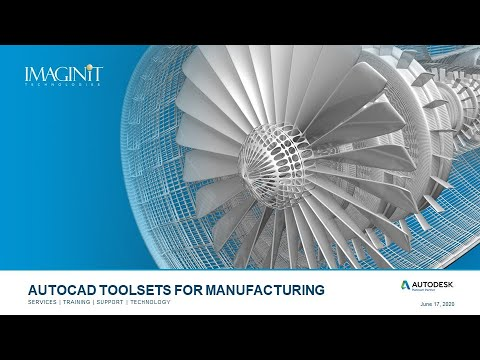AutoCAD Toolsets for Manufacturing
