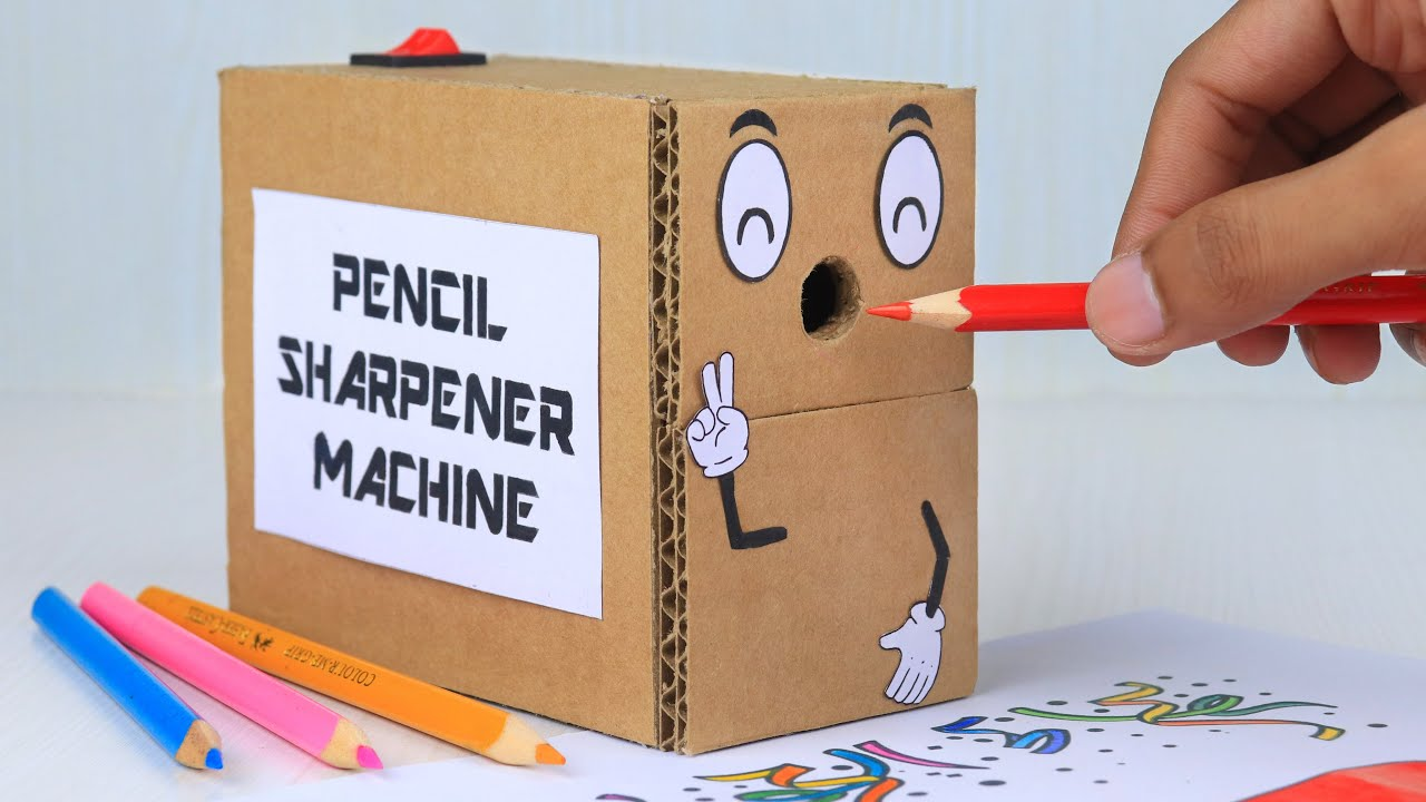 How to Make Pencil Sharpener Machine with Cardboard | Homemade Inventions