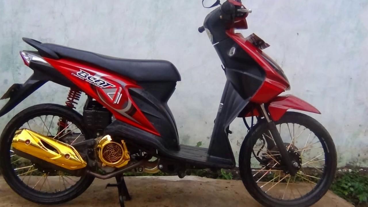 104 Modifikasi Honda Beat Merah Velg 17 Modifikasi Motor Beat