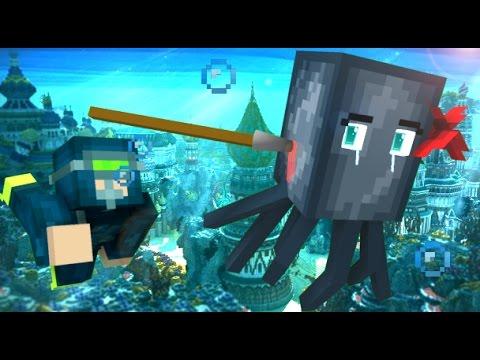 Squid Life - Minecraft Animation - Видео из Майнкрафт (Minecraft)