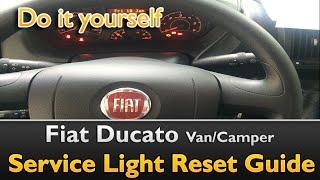 Fiat Ducato Service Light interval Reset