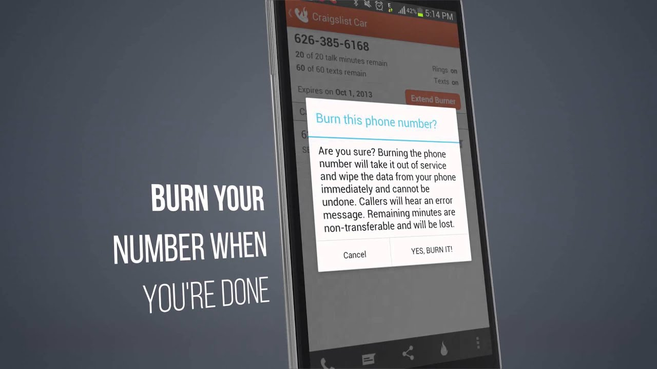 Burner Promo for Android - Free New Number