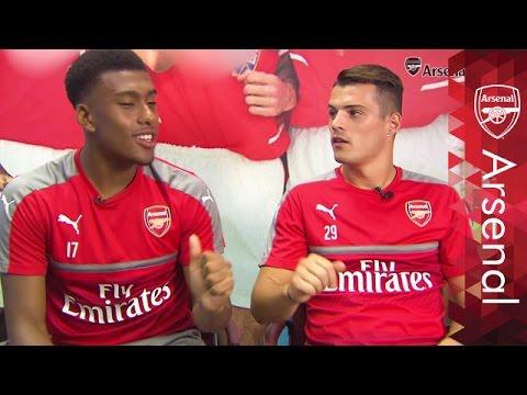 Iwobi, Xhaka and Holding speak London street slang