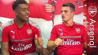 Iwobi, Xhaka and Holding speak London street slang