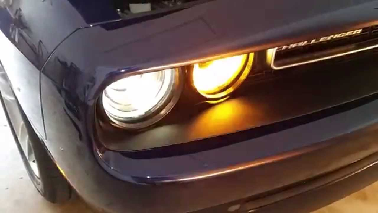 2008 2015 dodge challenger testing headlights after changing bulbs low high beam turn signal youtube