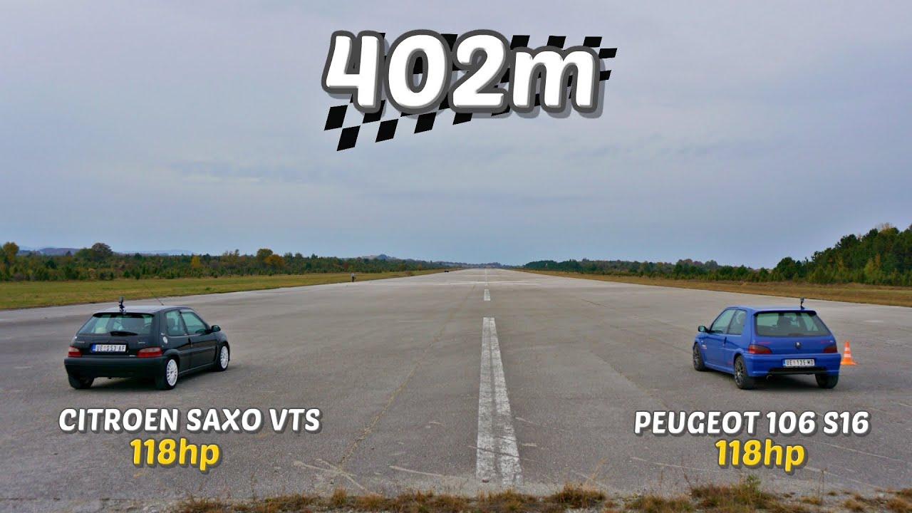 Download 402m: Peugeot 106 S16 vs Citroen Saxo VTS