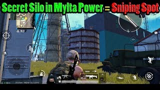Secret Silo Roof Near Mylta Power = Huge Advantage | PUBG Mobile with DerekG