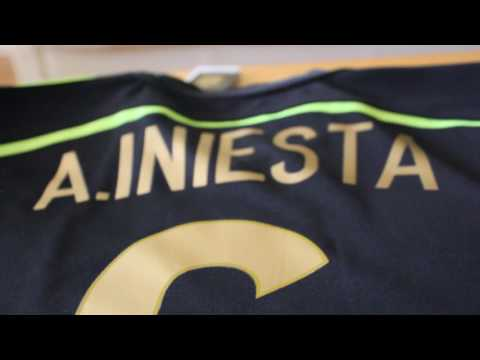 Custom Spain Soccer Iniesta Jersey