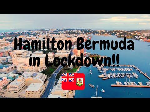 Hamilton Bermuda in Lockdown!! | 4K Drone Video | DJI Mavic 2 Zoom