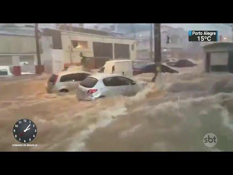 Criança é arrastada pela correnteza e morre durante temporal em SP | SBT Notícias (21/03/18)