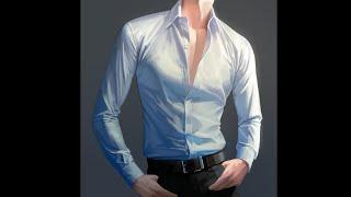 리X북스 남주 스타일 셔츠 그리기 스피드 페인팅 (Sh…