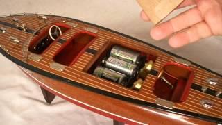 18in Mahogany Speedboat By R-c Craft