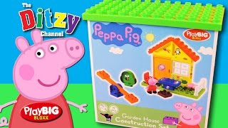 PEPPA PIG Garden House Construction Block Bloxx Play Set unboxing & toy review by Ditzy