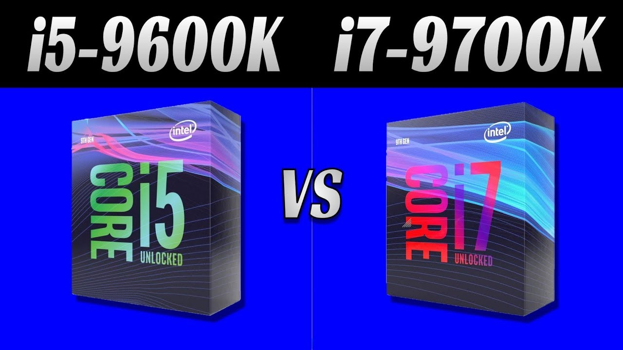 Intel i5 9600K vs Intel i7 9700K: Gaming Benchmark 1080p, 1440p, 2160p  9  Games and 36 tests