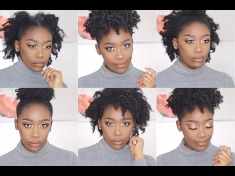 How To Style Natural 4c Hair 6 Easy And Cute Styles Youtube
