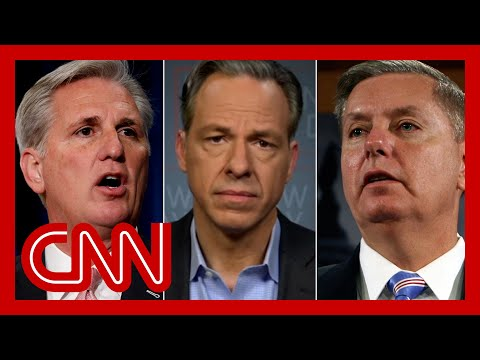 'Cowardly follower': Tapper calls out GOP who stand with lies
