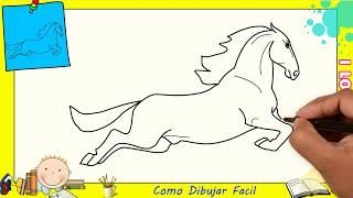 Dibujos de caballos FACILES paso a paso para niños - Como dibujar un caballo 2